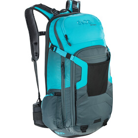 EVOC FR Trail Protector Backpack 20l slate/neon blue